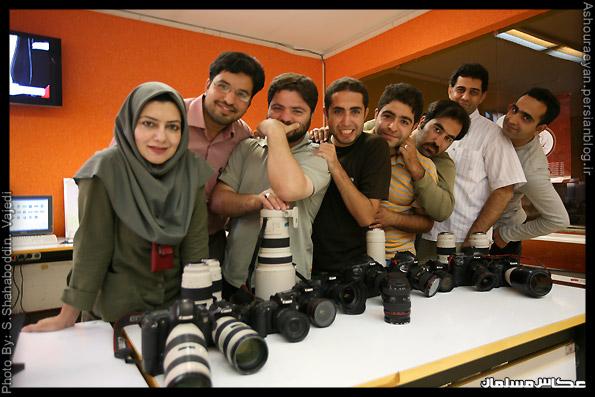 مرحوم مجتبی تکین و عکاسان خبرگزاری مهر