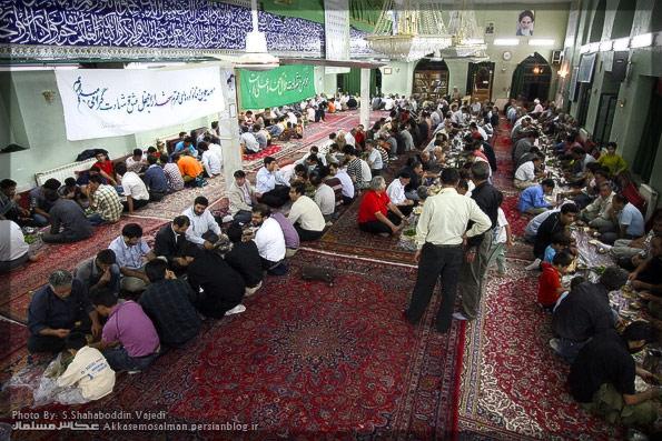 افطاری در روستای امامه