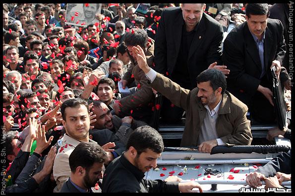 رییس جمهور در شیراز