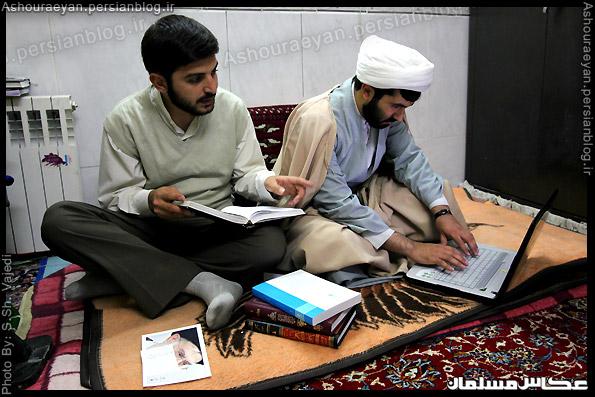 طلاب حوزه علمیه امام رضا